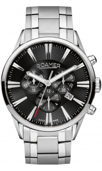 Roamer Superior Chrono Black Silver
